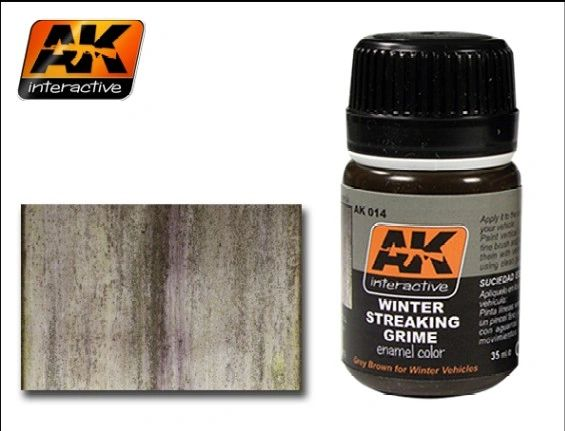 Winter Streaking Grime Enamel Paint 35ml Bottle - AK Interactive 14