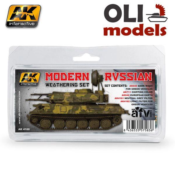 Modern Russian Weathering Set (5 Colors) 17ml Bottles - AK Interactive 4160