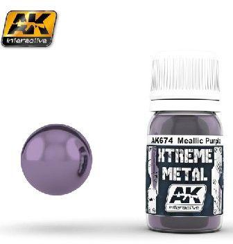 Xtreme Metal Purple Metallic Paint 30ml Bottle - AK Interactive 673