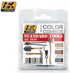 Color Combos: Standard Tools All Eras Acrylic Paint Set (3 Colors) 17ml Bottles - AK Interactive 4174