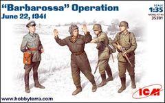 1/35 WWII Barbarossa Operation Figure Set Jun 1941 (4) - ICM 35391