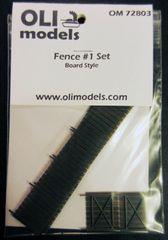 """1/72 FENCE #1 Set """"Board Style"""" for Vignette/Diorama - OLI Models 72803"""