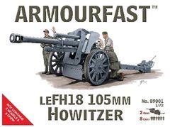 1/72 LeFH18 105mm Howitzer Gun (2) & Crew (8) - Armourfast 89001