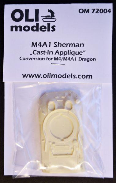 "1/72 M4A1 SHERMAN ""Cast-In Applique"" RESIN Conversion - OLI Models 72004"