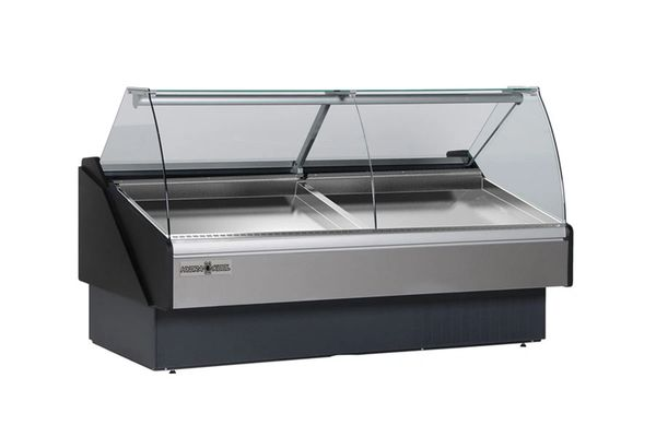 Hydra Kool Kfm Sc 120 S 117 Inch Seafood Case Curved Glass