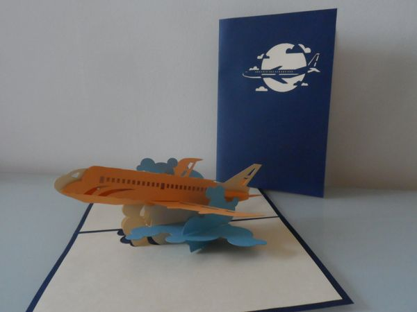 Greatest Jet Aircraft Plane Pop up Card - blank | all Nicky Pop Up Cards LU11