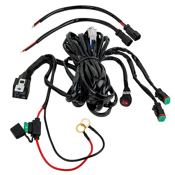 Epistar Led Light Bar Wiring Diagram : Led light harness baja off road lights