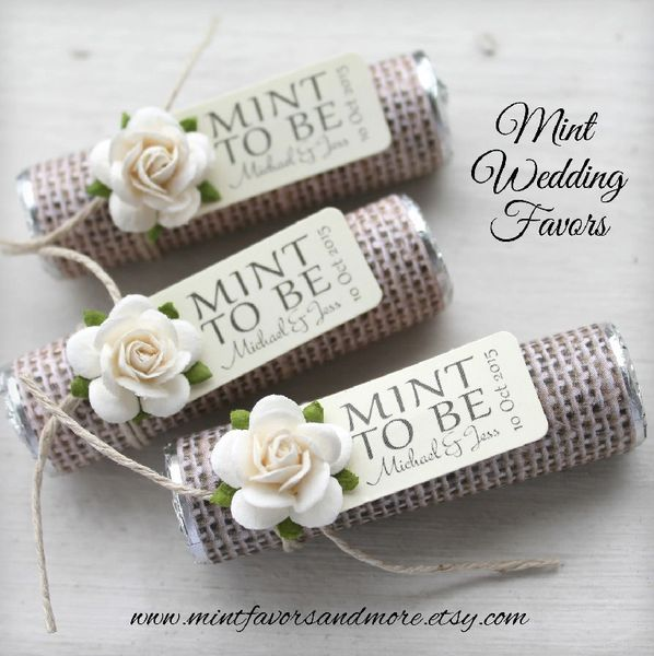 Burlap Wedding Favor Custom Wedding Favors Mint To Be Mints