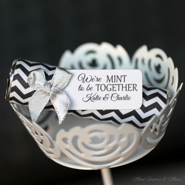 Silver Wedding Unique Wedding Favors Chevron Wedding Details