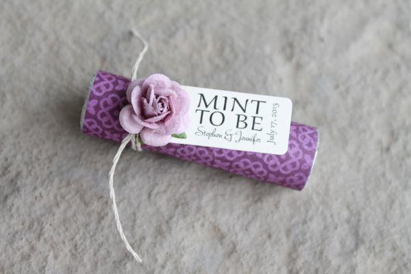 Unique Wedding Favor Idea Purple Wedding Favor Mint To Be Unique