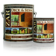 Exterior Stain, Zar Deck & Siding Semi-Transparent Exterior Stain (Gallon)