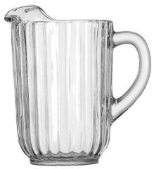 Pitcher, Glass Fluted (2 Qt.)