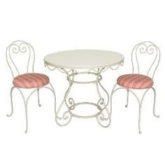 Table w/ 2 Chairs, Ice Cream Parlor