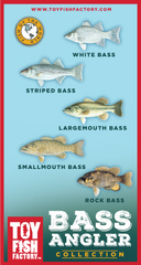 Bass Angler Toy Fish Set NOT AVAILABLE YET