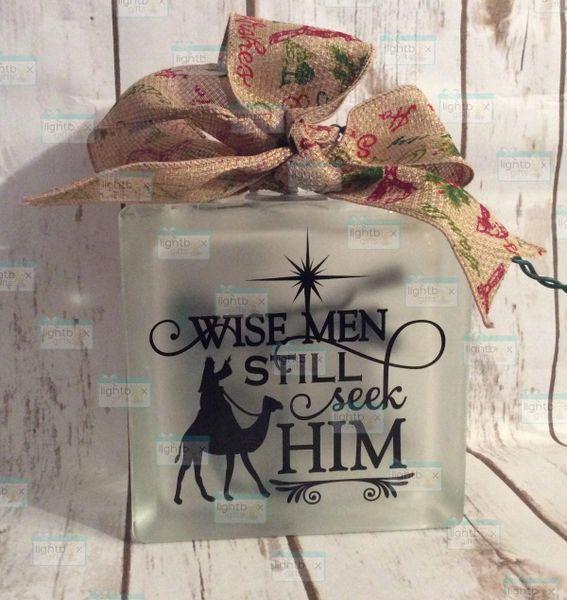 Wisemen still seek Him Christmas Nativity LightBox