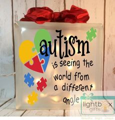 Autism is seeing the world from a different angle etched glass LightBox