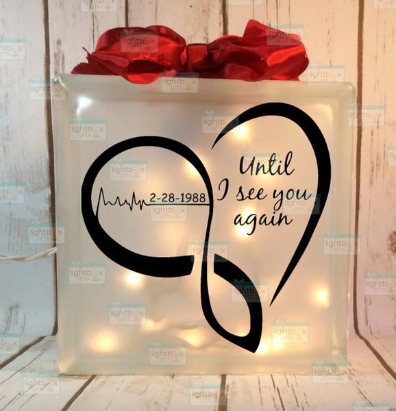 Until I see you again personalized heartbeat LightBox
