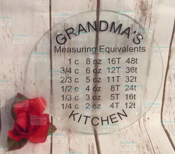 Measuring equivalents personalized cutting board