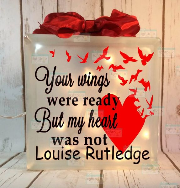 Your wings were ready but my heart was not Heart with birds LightBox