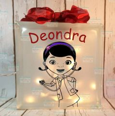 Doc McStuffins personalized children's night light LightBox