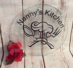 Chef's hat, spoon and work personalized cutting board