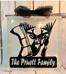 Buck Rifle and Bow Family name LightBox