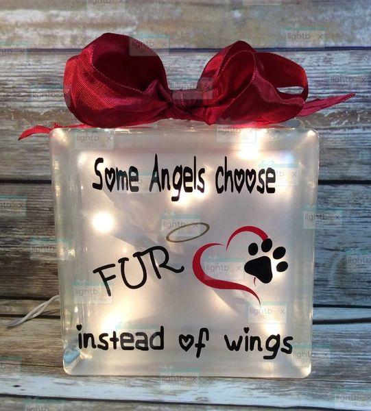 Some Angels choose Fur instead of Wings Pet memorial LightBox