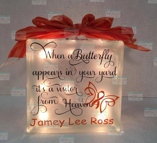When a Butterfly appears with cause ribbon LightBox