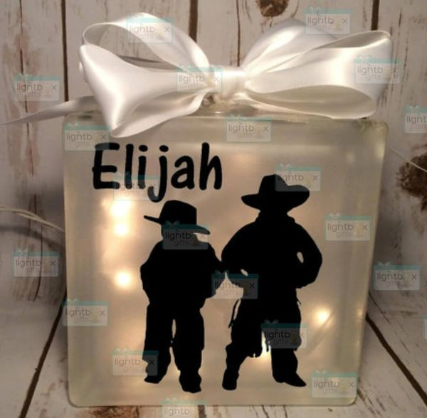 Cowboys personalized LightBox nightlight