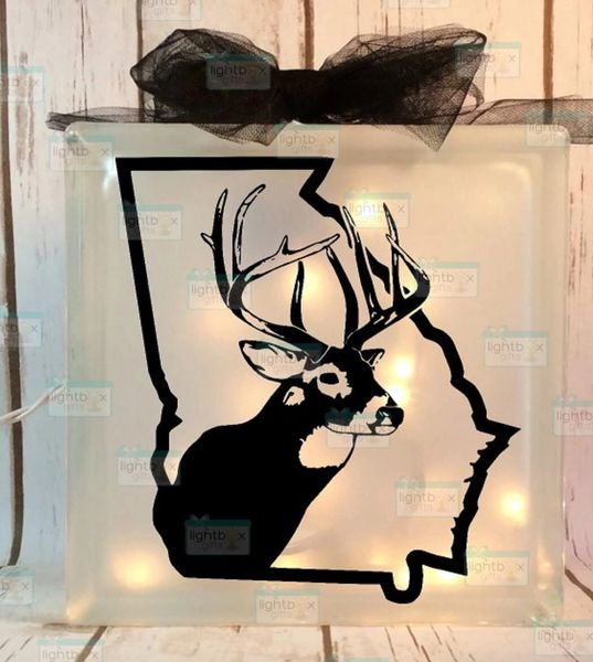 Buck with state of your choice etched glass LightBox