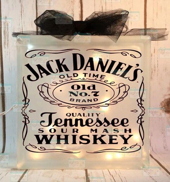 Jack Daniels etched glass LightBox