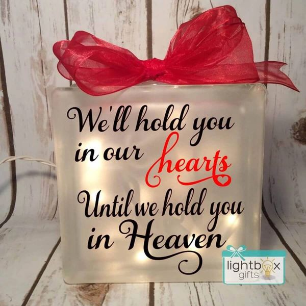 I'll hold you in my heart until I hold you in Heaven memorial block