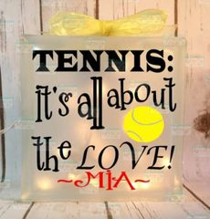 Tennis: it's all about the Love! personalized LightBox