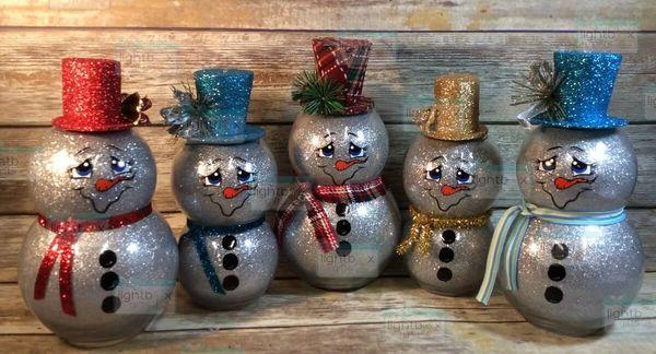 Snowman globes