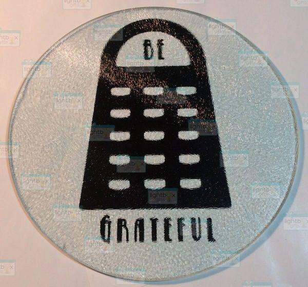 Be Grateful cutting board with Grate design