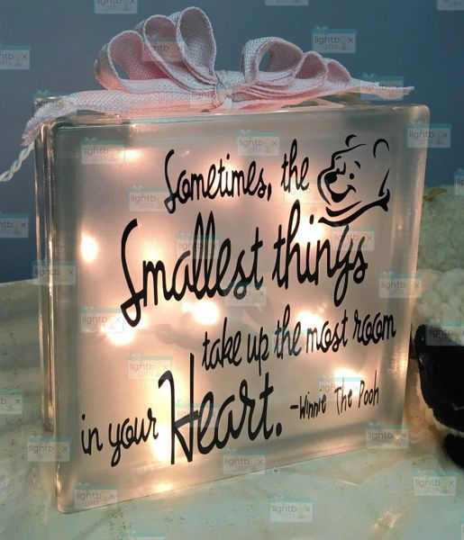 Winnie the Pooh Small Things Quote - Smallest Things Take Up The Most Room In Your Heart - Baby Shower Gift - Teacher Gift