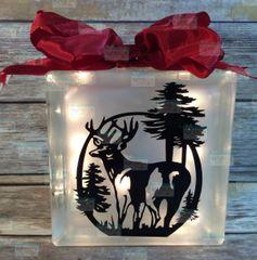 Big Buck etched glass LightBox