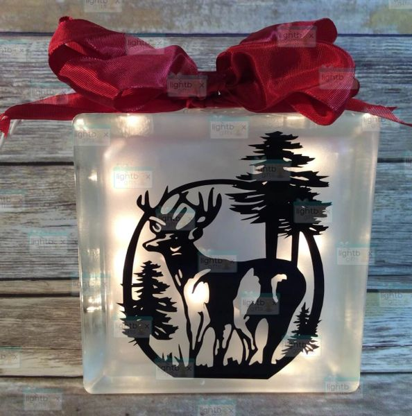 Big Buck etched glass LightBox