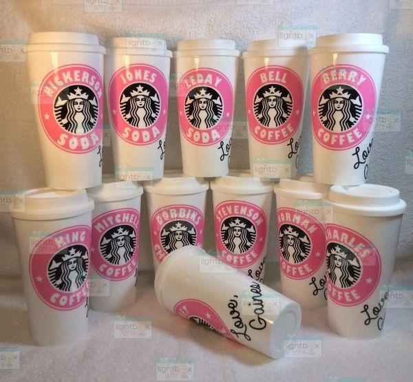 Personalized Starbucks-like cup - teacher gift, coffee travel mug, birthday co-worker mom dad grandpa grandma anniversary tea soda beer pop