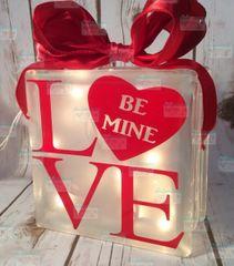Love Be Mine Heart LightBox