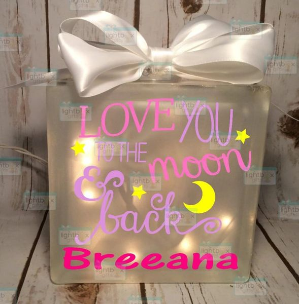 Love you to the moon and back personalized LightBox