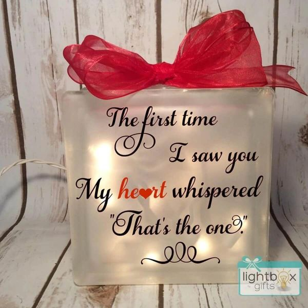 """The first time I saw you My heart whispered """"That's the one."""" LightBox"""