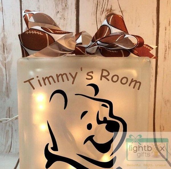 Winnie the Pooh etched glass LightBox Nightlight night light