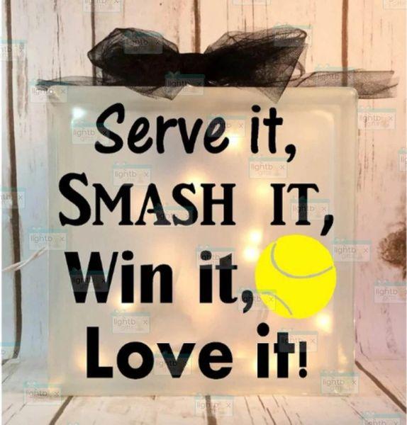Serve it, Smash it, Win it, Love it! Tennis LightBox