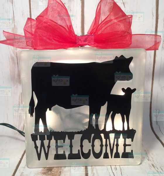 Welcome Cow and calf LightBox