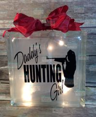 Daddy's Hunting Girl etched glass LightBox