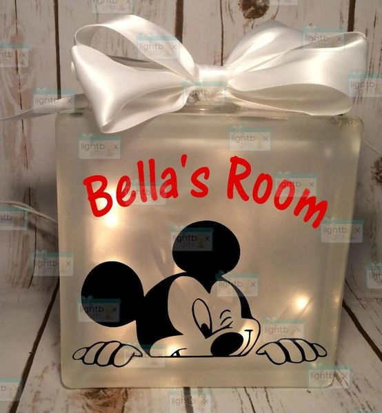 Mickey Mouse peeking personalized Night Light