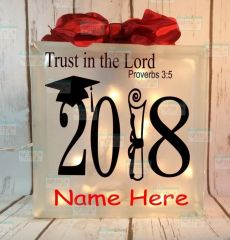 Trust in the Lord Proverb 3:5 personalized graduation LightBox