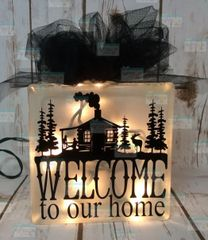 Welcome to our Home Cabin in woods LightBox