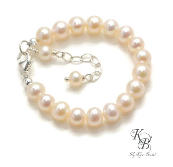 Pearl Baby Bracelet Baby To Bride Bracelet Real Pearl Bracelet Baby